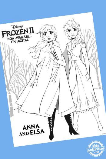 anna and elsa coloring sheet