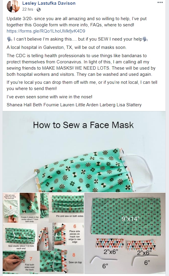 Nurses All Over Are Asking People to Sew Masks. Here's How You Can Help
