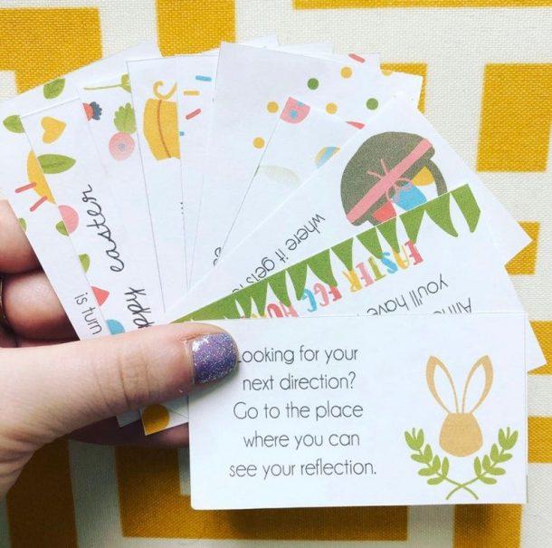 Easter egg hunt Scavenger hunt for kids - cards you can print at home