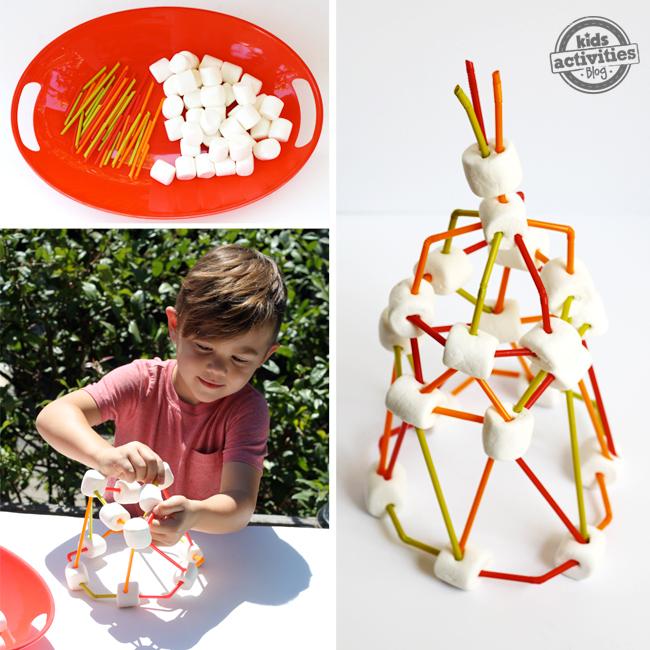 social distancing stem marshmallow tower