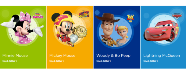 Personnage Disney d'apprentissage de la propreté
