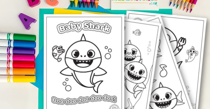Baby Shark Coloring Pages | Free Download For Kids