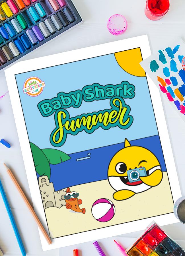 Baby Shark Summer Holidays Printables