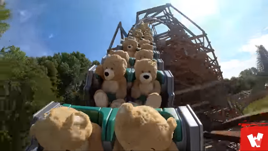 teddy bears rollercoaster