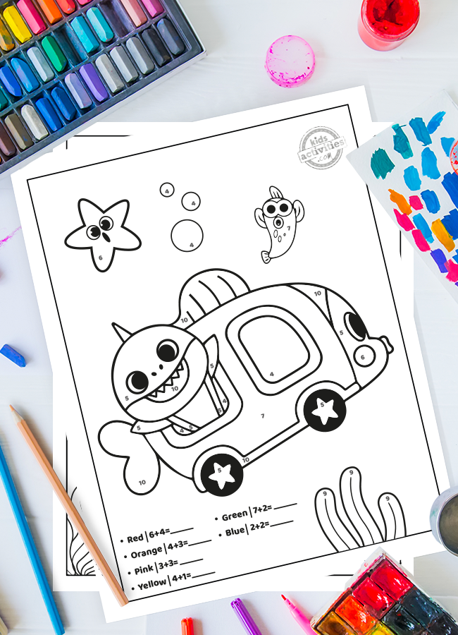 Baby Shark Worksheets Addition
