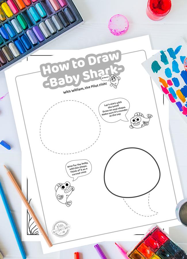 Draw Baby Shark Printable