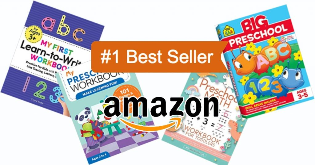 Ces cahiers d'exercices préscolaires les plus vendus garderont les enfants de 2 à 5 ans occupés et s'amuseront tout en apprenant.  Les 4 titres de livres les plus vendus d'Amazon sont présentés.