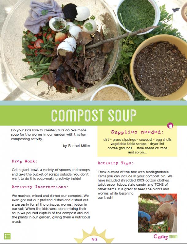 Compost soup activity