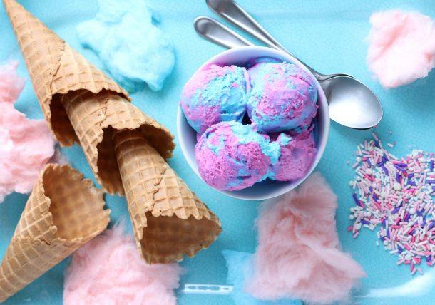No Churn Cotton Candy Ice Cream