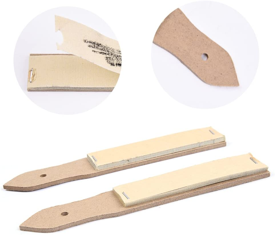 Sandpaper Pencil Sharpener Lead Pointer Art Drawing Tool 2 Pack shown with tear away and hole for storing