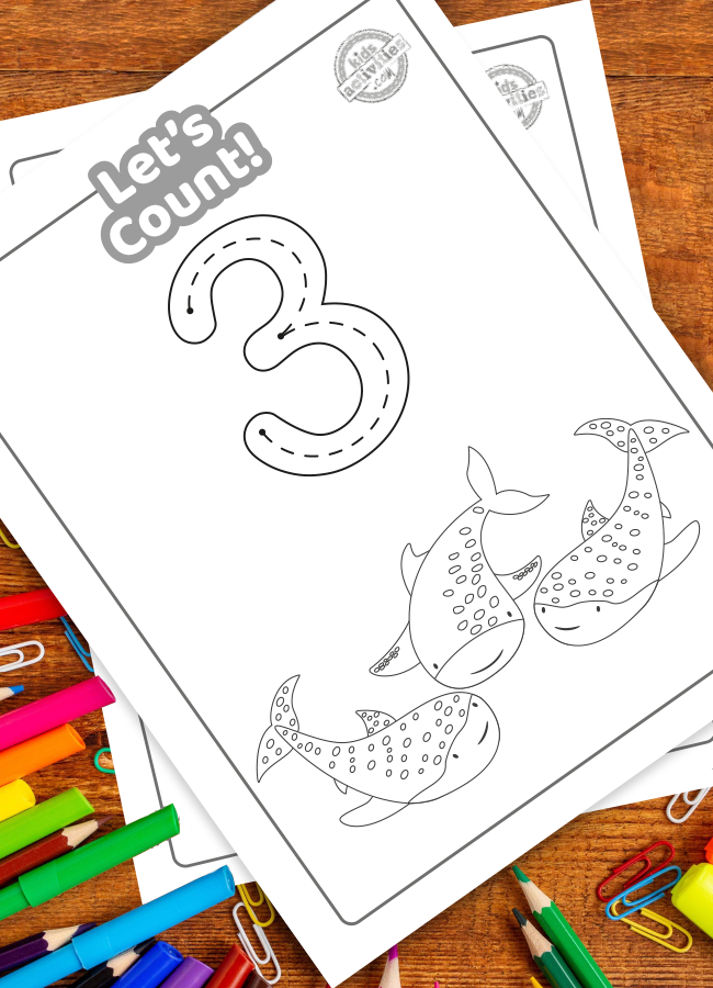 Shark week coloring pages math activities for preschoolers