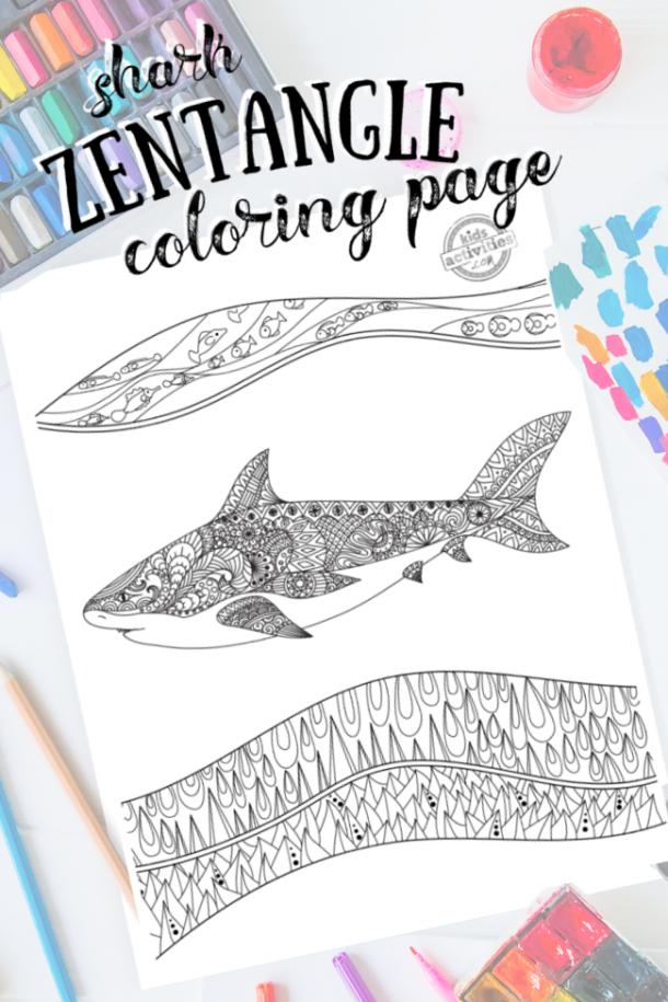 intrincado patrón de zentangle listo para colorear con materiales de arte mixtos y colores brillantes