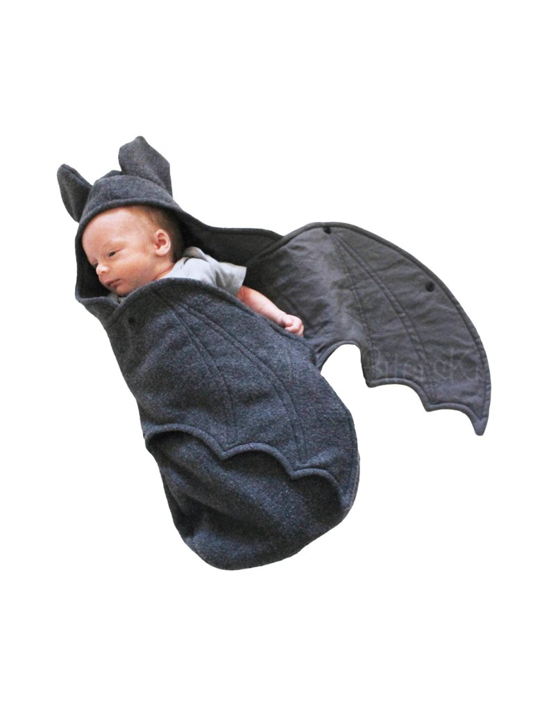 Baby in Baby Bat Swaddle Blanket