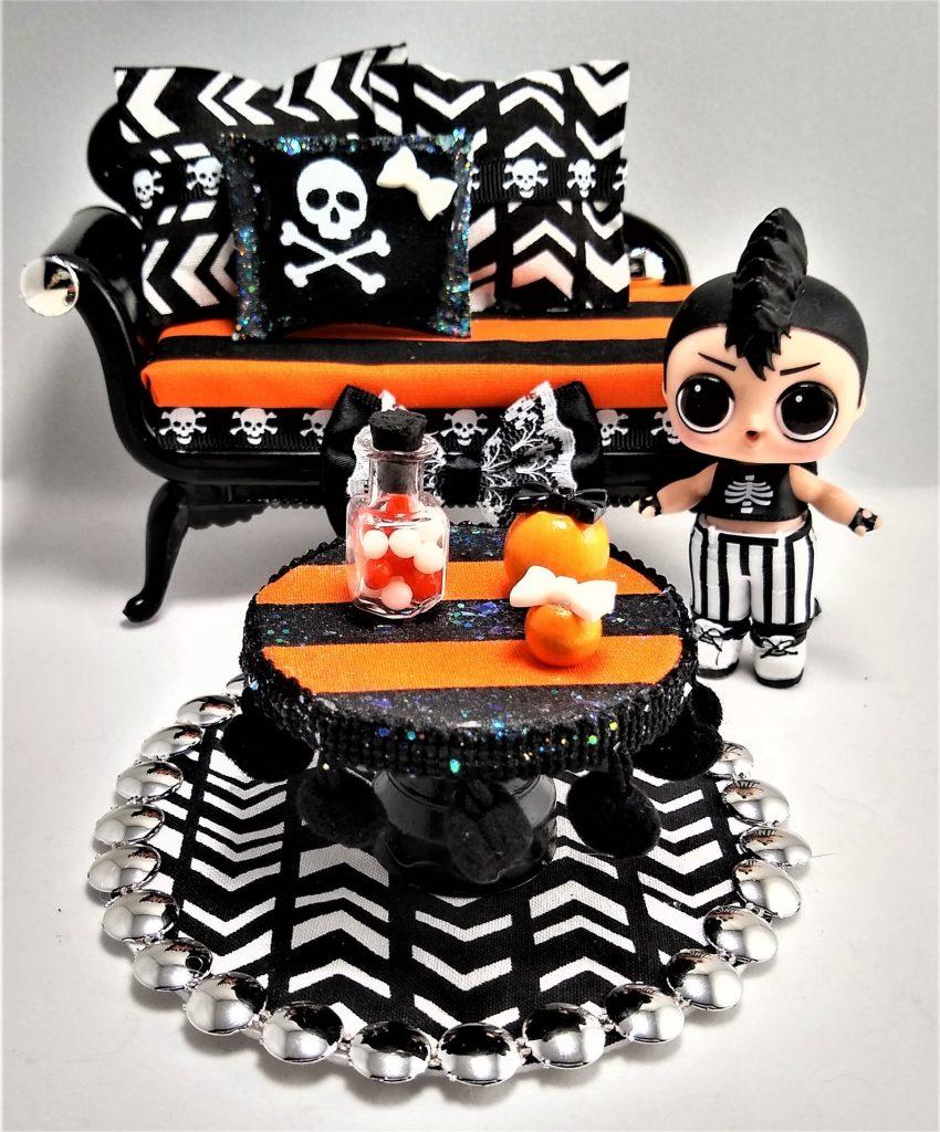 Halloween Dollhouse Furniture Set