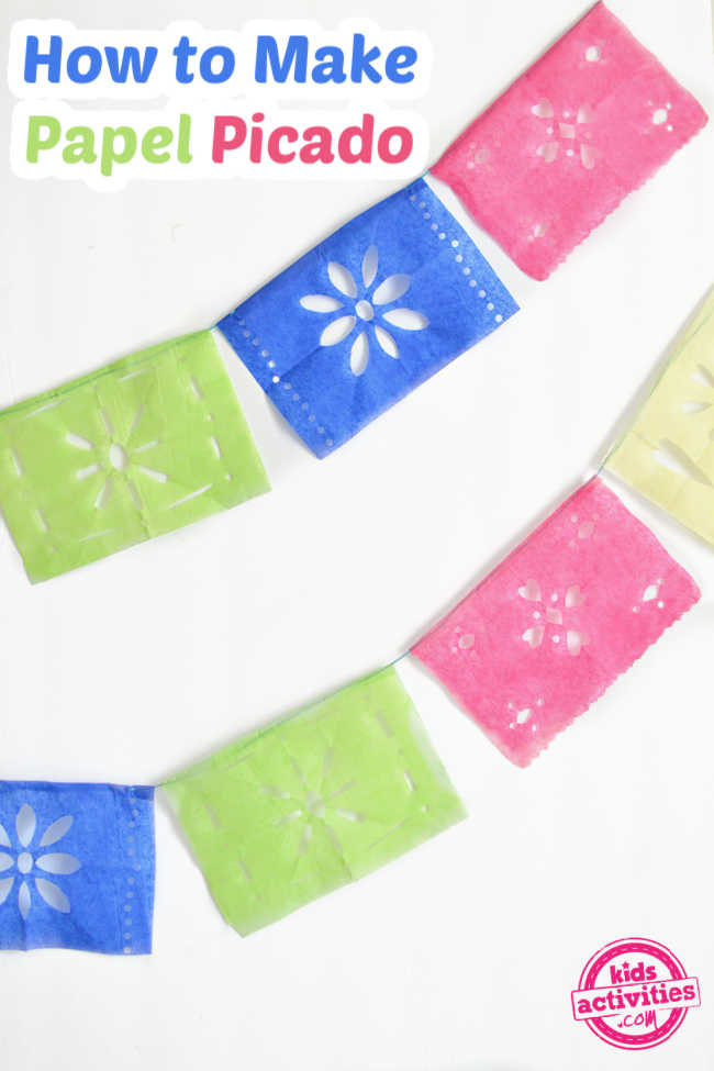 tissue paper colorful banner on a white background