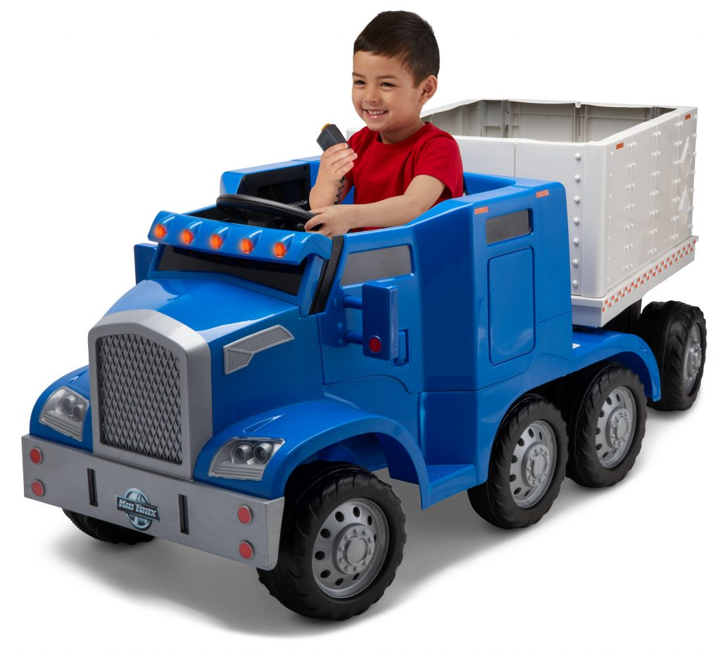 Kidtrax Semi-Truck and Trailer Ride-On Toy