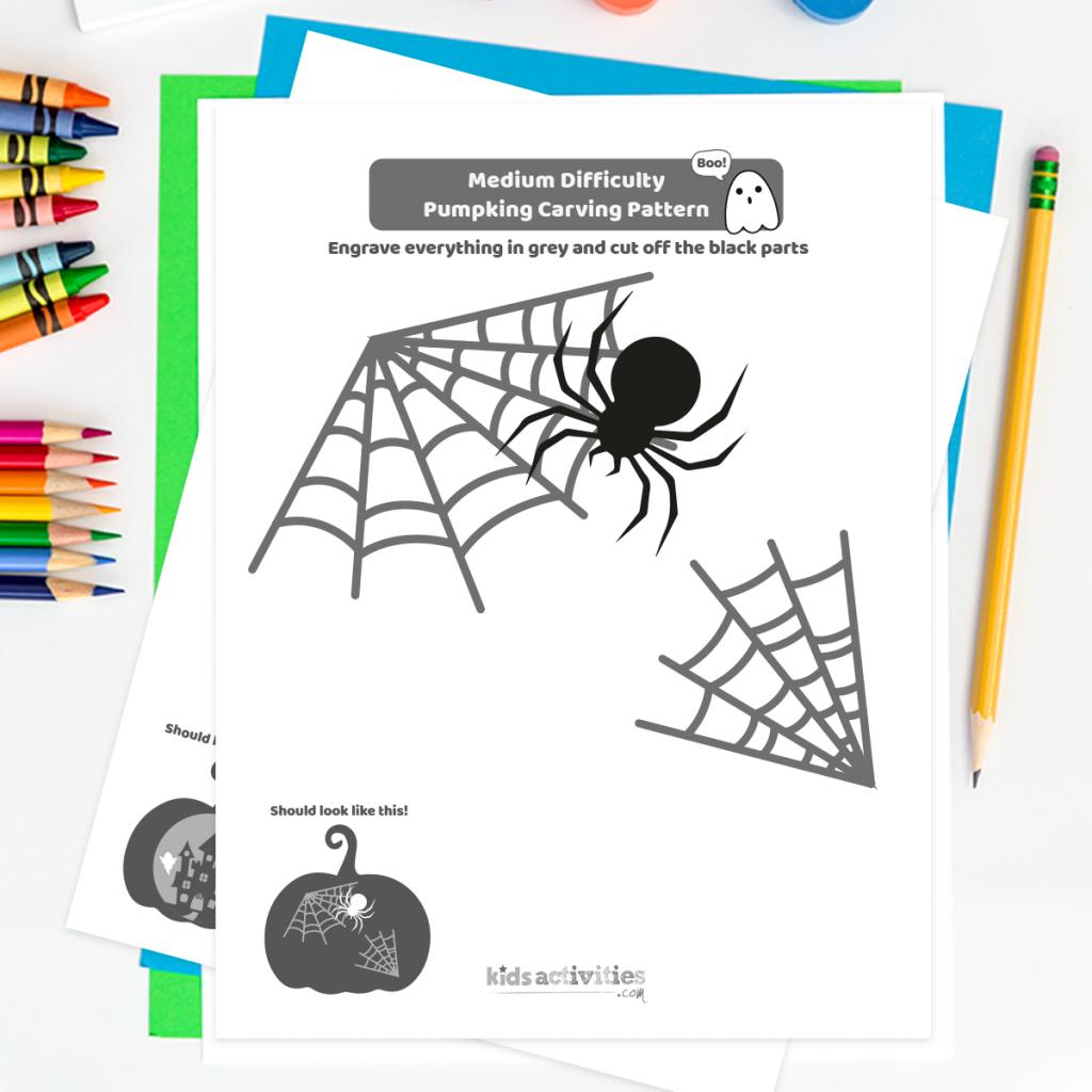 pumpkin spider web patterns