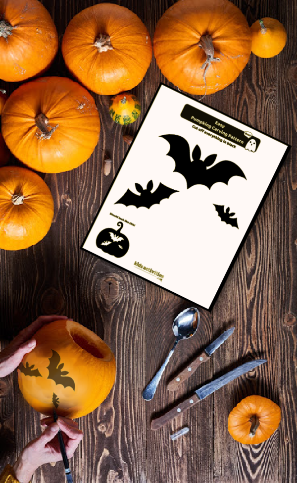 Pumpkin carving pattern example