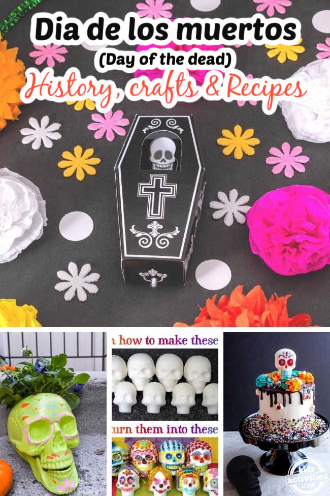 collage of day of the dead traditions crafts recipes