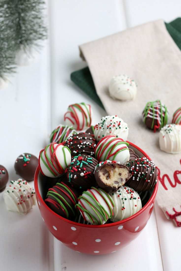 Christmas Cookie Dough Truffles