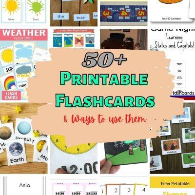 50+ DIY flashcards for kids