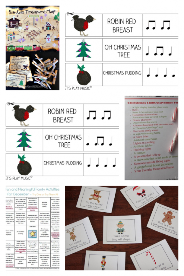 active christmas activities