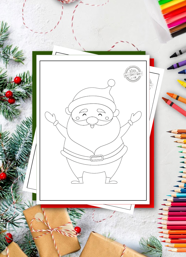 coloring pages for preschoolers christmas