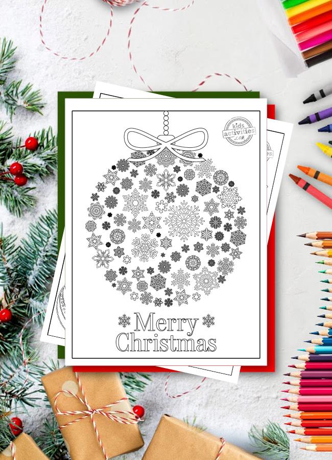 Coloriages de Noël pour adultes pdf