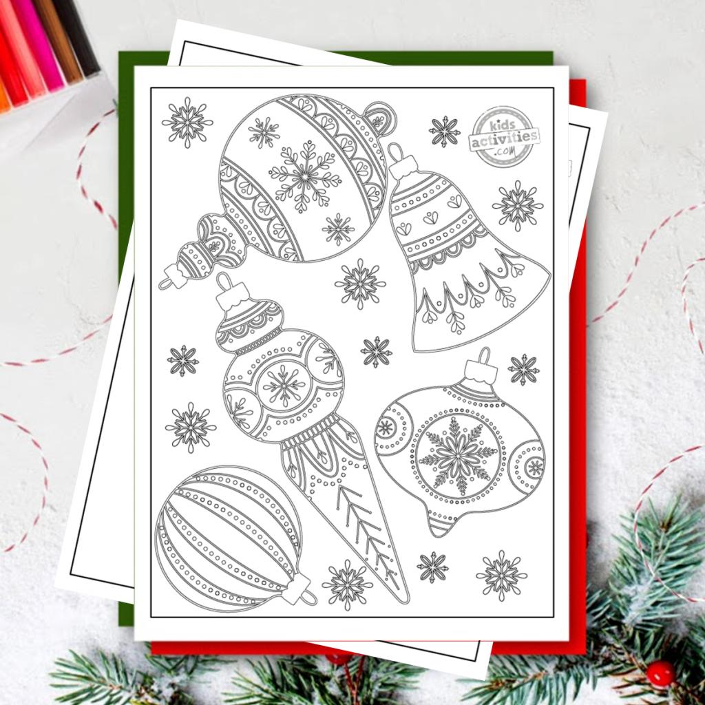Coloriages de Noël pour adultes