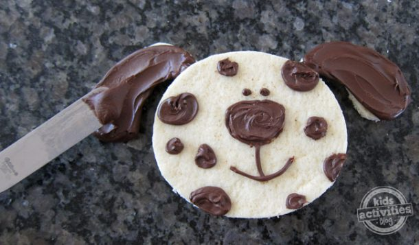 Chocolate Spotted PB&J Puppy Sandwich
