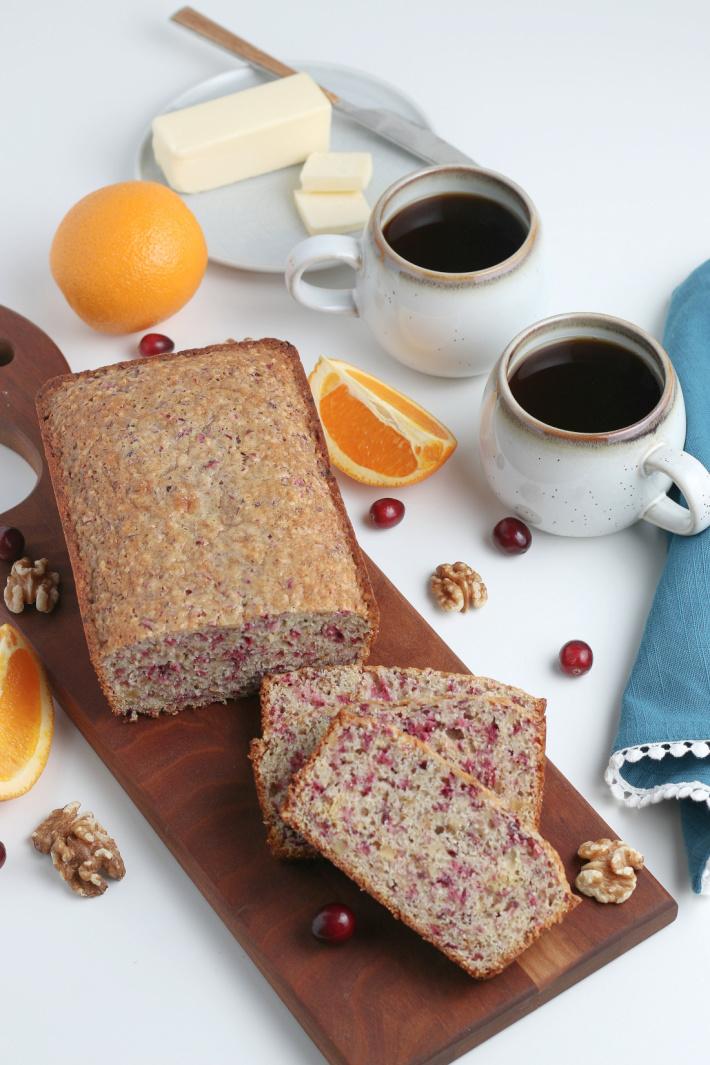 Homemade Cranberry Orange Bread