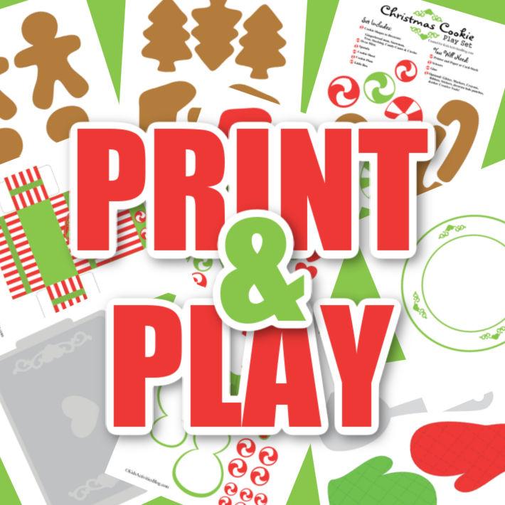 """Imprimer et jouer - image d'imprimables sous les mots """"imprimer et jouer"""""""