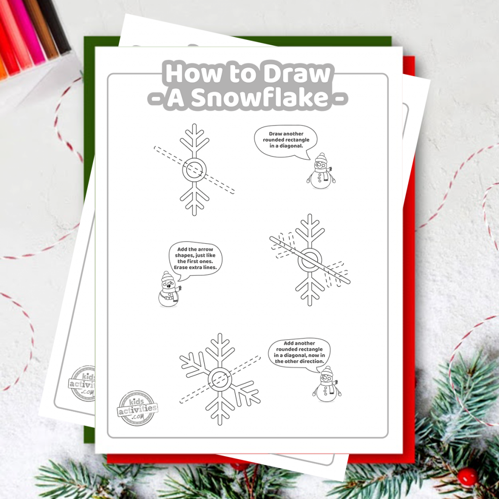 easy how to draw a snowflake