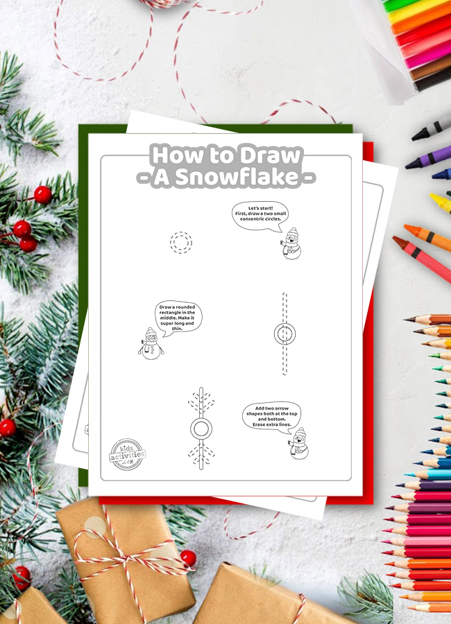 how to draw a snowflake easy
