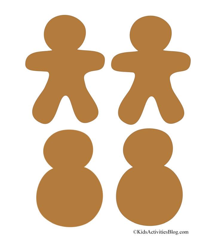 Bonhommes de pain d'épice et bonhommes de neige imprimables mignons - 4 illustrés sur ce pdf de Noël du blog d'activités pour enfants
