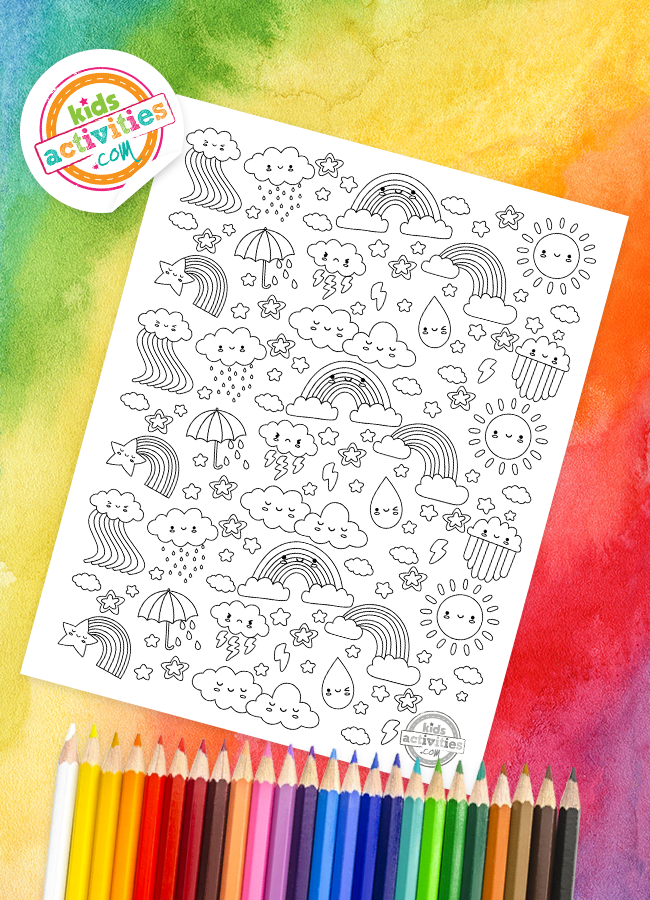 rainbow doodle