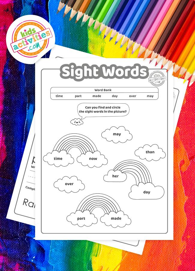 rainbow sight words kindergarten