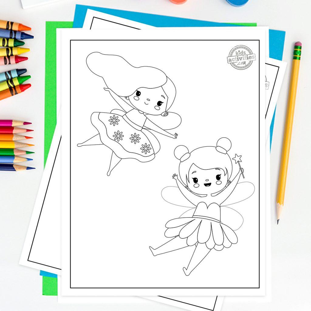 beautiful fairy coloringpages