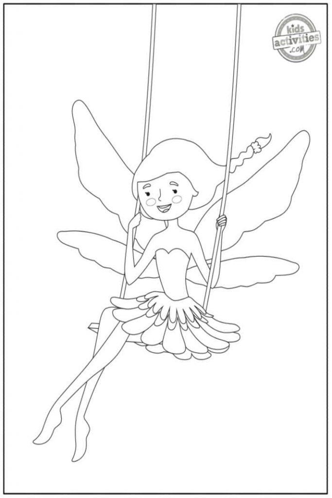 fairy sitting on a swing