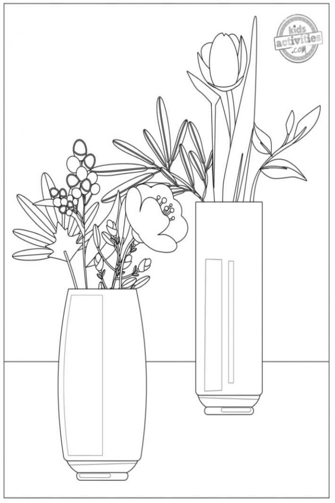Most Beautiful Flower Coloring Pages For Adults Toysmatrix