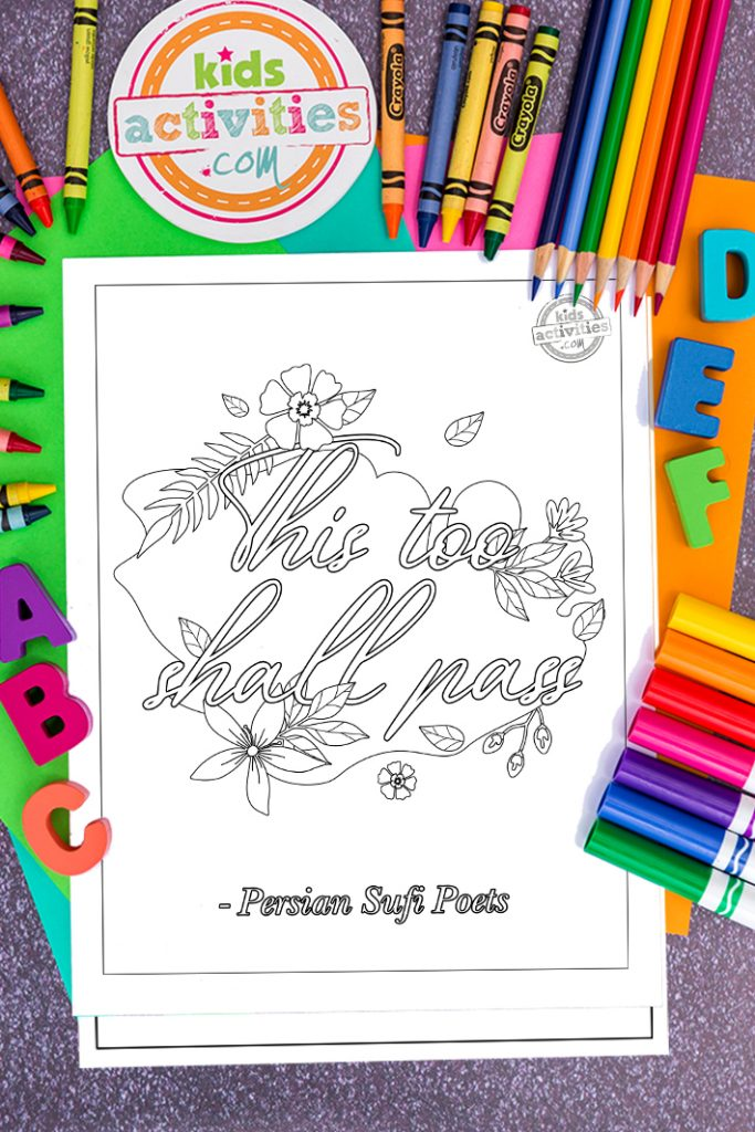 Best Inspirational Quote Coloring Pages For Adults Toysmatrix