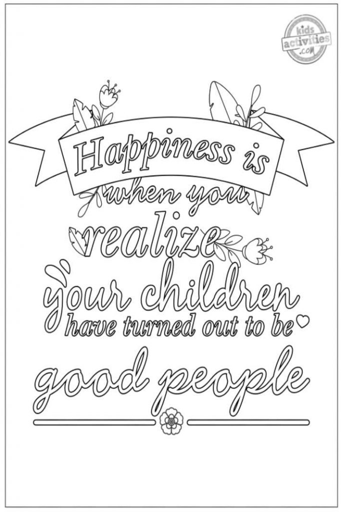 Parenting Quote Coloring Pages For Adults - ToysMatrix