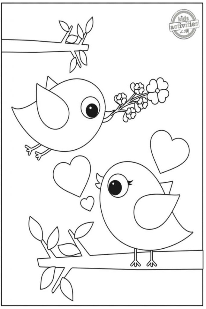 Preschool Valentine Coloring Pages