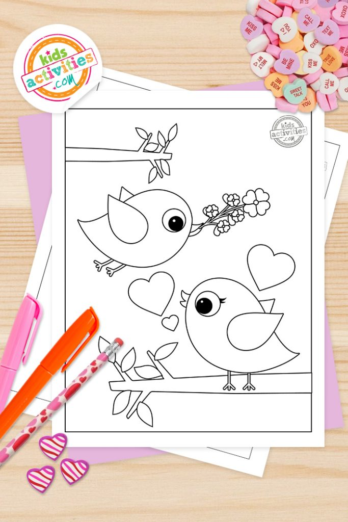 valentine's day preschool coloring pages