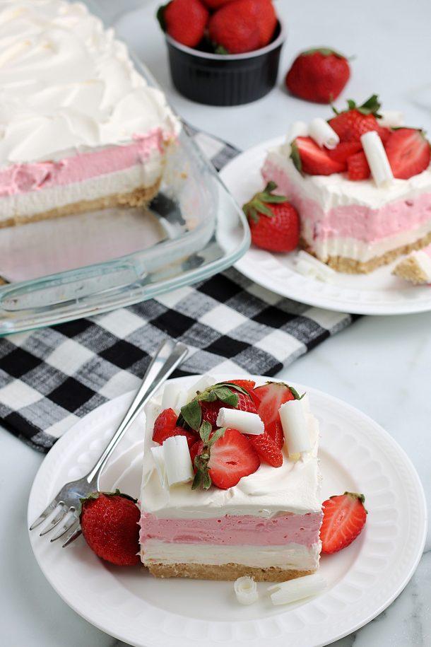 Strawberry Dessert Lasagna