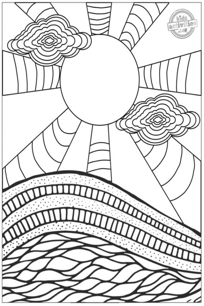 Hypnotizing Trippy Coloring Pages For Adults - ToysMatrix