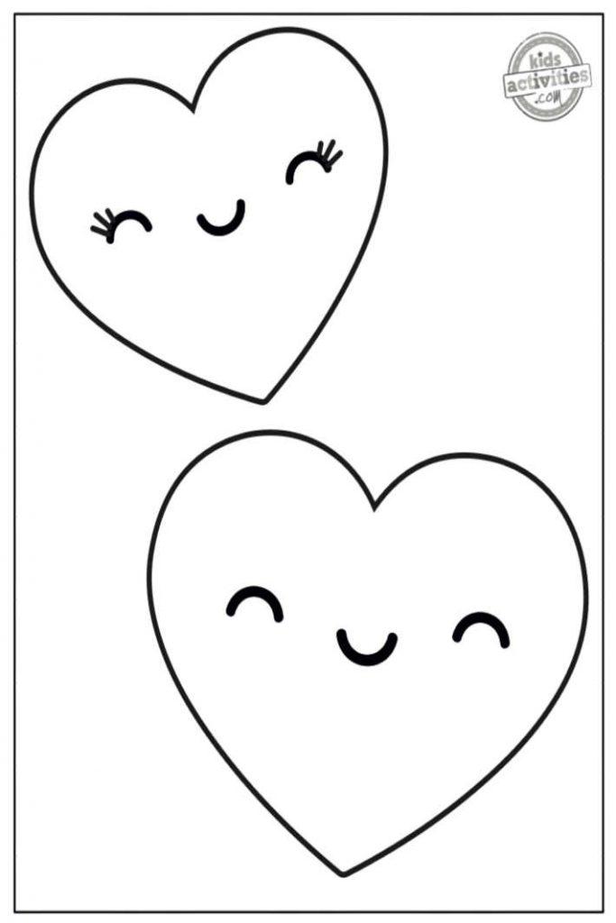 Coeur de Saint Valentin heureux