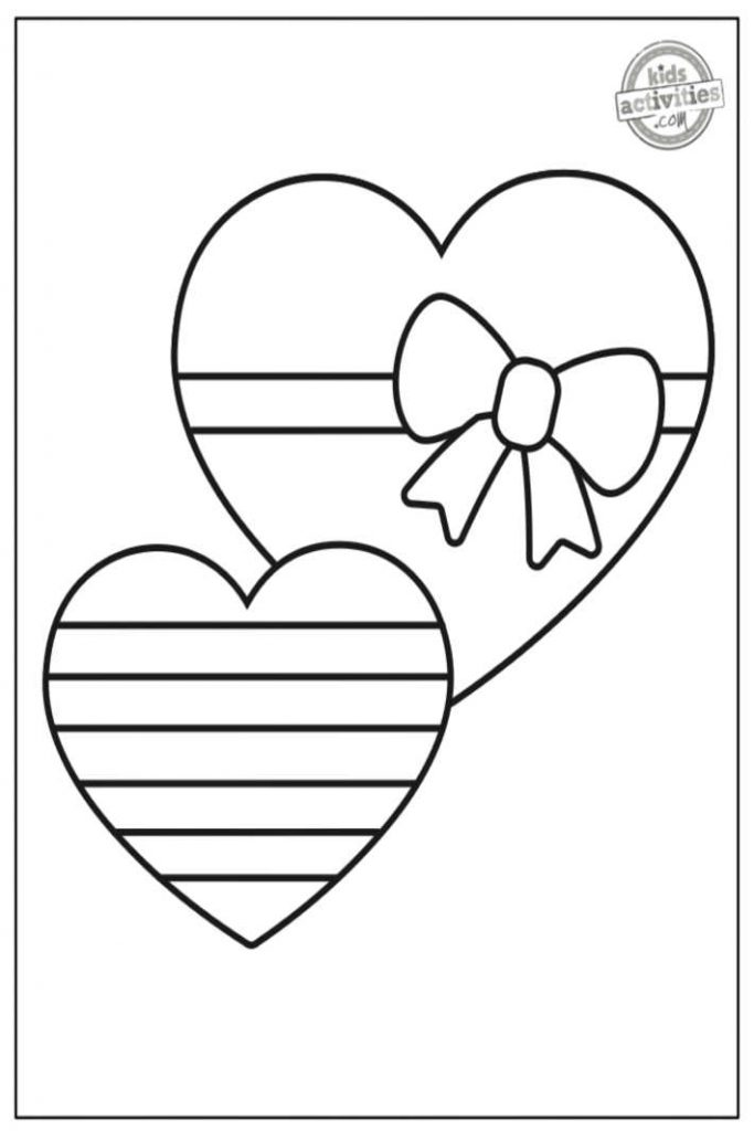 pages de coloriage coeur saint valentin pour les tout-petits