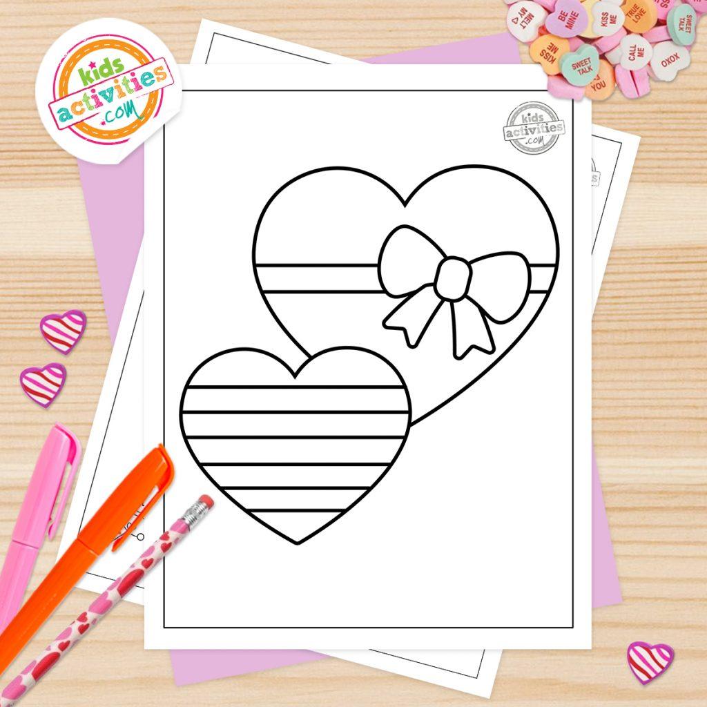Coloriages gratuits de la Saint-Valentin pour les tout-petits