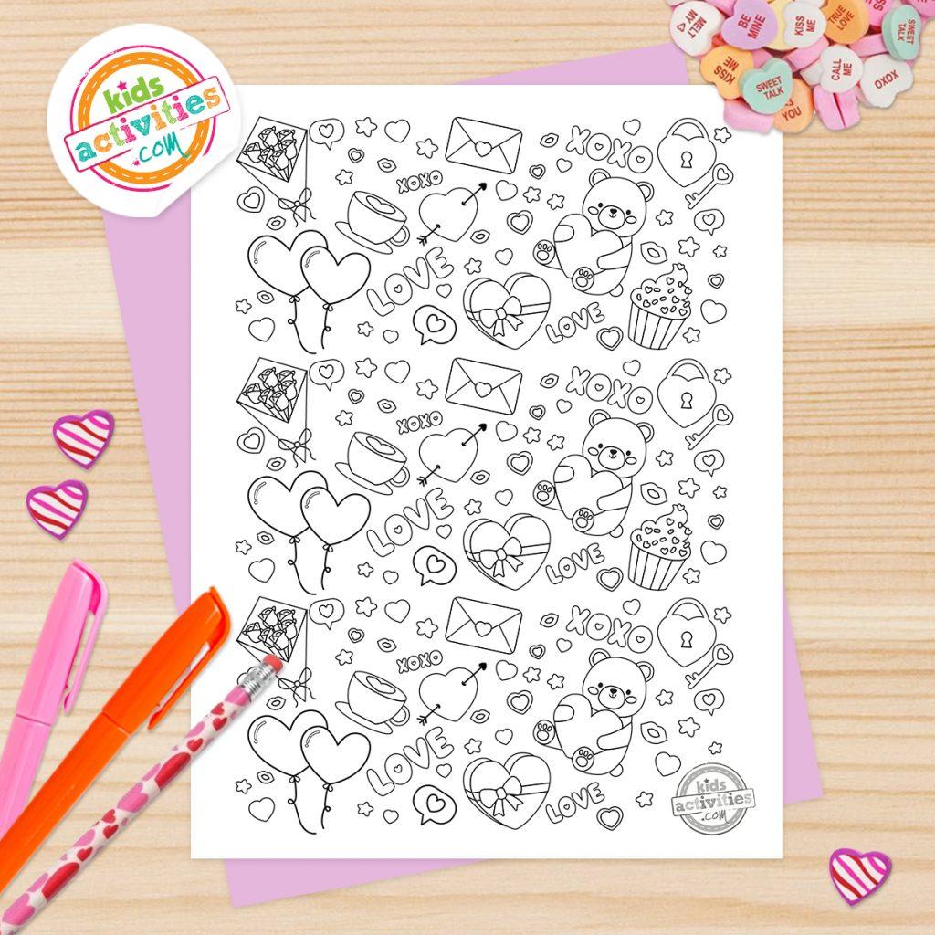 cute valentines doodles